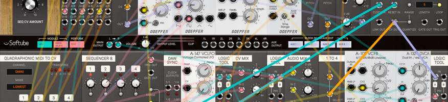 """Mu-Techデジタル音楽制作研究コースコースで解説しているソフトモジュラーシンセ """"Softube Modular"""" が4月30日まで30%以上オフの6500円!"""
