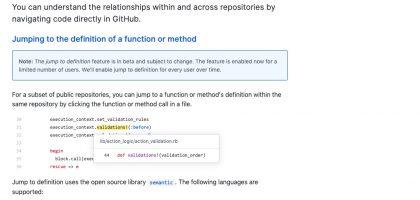関数やメソッドの定義元を簡単に見つける事ができる! | githubのJump to definition機能が超便利!