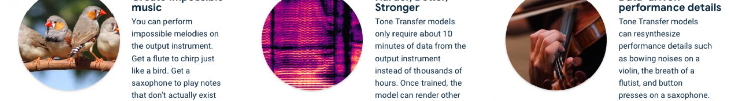 機械学習で自分の歌声を色々な楽器音に変換できるTone Transfer